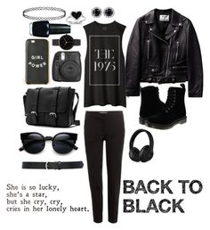 """BACK TO BLACK"" by stefania-stelea ❤ liked on Polyvore featuring Dr. Martens, Etro, I Love Ugly, OPI, M&Co, Kevin Jewelers, Beats by Dr. Dre, women's clothing, women and female"