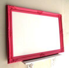 MAGNETIC DRY ERASE Board Bright Pink Playroom by ShugabeeLane, $219.00