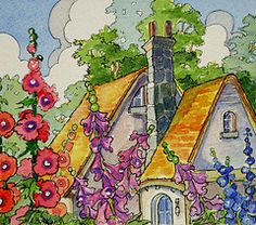 Art work for cottage lovers and cottage gardeners