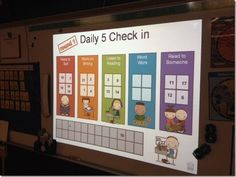 daily 5 check in. but not sure if I want to do it on my smart board .plus it's a great site for other ideas! Daily 5 Reading, First Grade Reading, Teaching Reading, Guided Reading, Teaching Ideas, Daily 5 Activities, Smart Board Activities, Literacy Activities, Reading Activities