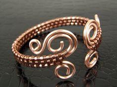Women's Copper Wire Weave Bracelet Handmade Copper by BonzerBeads, $24.00