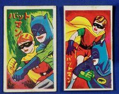 1960's BATMAN Japanese Menko Cards vintage toy japan