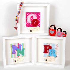 personalised funky felt girl's initial picture by scamp baby gifts   notonthehighstreet.com