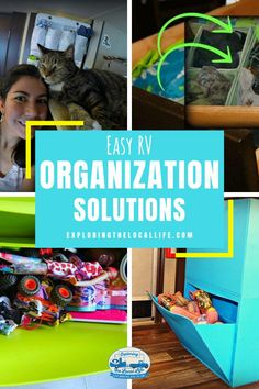 Easy RV Organization Solutions for You — Exploring the Local Life Rv Travel, Travel Trailers, Travel Tips, Camper Trailers, Family Travel, Camper Life, Rv Life, Rv Storage Solutions, Tv Entertainment Units