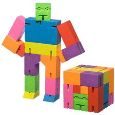 Multi-Color Cubebot Medium by Areaware