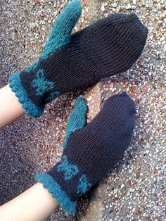 These gauntlets were made to match the Gothic Butterfly Hat. If using the suggested yarn, the hat and mittens together can be made with two balls of Rowan Pure Wool DK and one ball of Felted Tweed. Rowan, Fingerless Gloves, Arm Warmers, Mittens, Ravelry, Tweed, Gothic, Butterfly, Pure Products