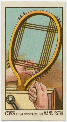 Restringing tennis racquet. (ca. 1923-1928)