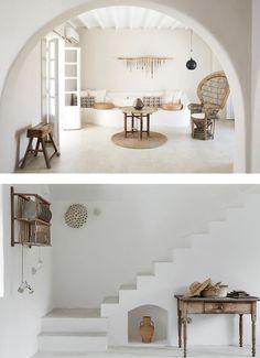 Ibiza Style Interior, Style Ibiza, Interior Design, Ibiza Fashion, Cottage Homes, Interior And Exterior, Sweet Home, Decoration, House Design