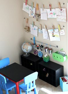 blog with idea for kids' homework/art station...I NEED one of these so badly in my house! http://www.5minutesformom.com/45469/tackle-it-tuesday-%E2%80%93-an-art-and-homework-station/