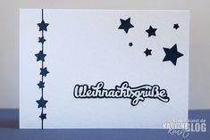 Karten-Kunst » Weihnachtsgrüße mit Sternen