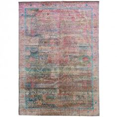 """Aura Silk Rug - 8'11""""x12'11"""" nspired by the ancient Indian art of color meditation, this Aura rug features a traditional pattern that is reinvented through color and dimension."""