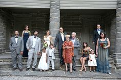 A lovely family portrait on the steps of the National Historic Landmark Bartram house Family Portraits, Weddings, Coat, House, Fashion, Family Posing, Moda, Sewing Coat, Home