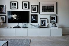 Wall Unit Designs, Tv Wall Design, Tv Enmarcada, Decor Around Tv, Muebles Living, Tv Wall Decor, Ikea Living Room, Framed Tv, Living Room Inspiration