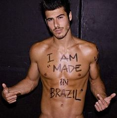 PHWOAR FRIDAY: Is it just us, or is Brazil the best place ever? Hot soccer players, inspiration for our Brazilian knickers, and this babe! How hot is Lucas Bernardini?!