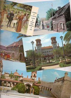St. Augustine Florida vintage postcards