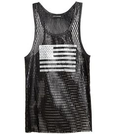 American Flag Perforated Leather Tank
