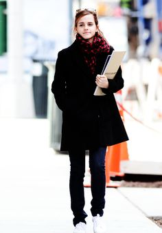 Great Emma Watson candid in New York City on January, 20.