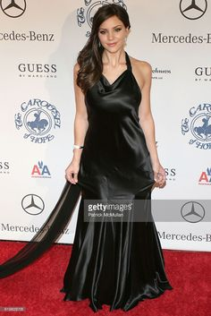 Katharine McPhee attends Anniversary Carousel Of Hope Ball Benefiting The Barbara Davis Center For Childhood Diabetes at Beverly Hilton on October 2008 in Beverly Hills, CA. Get premium, high resolution news photos at Getty Images Black Satin Dress, Silk Satin Dress, Satin Dresses, Black Gowns, Beautiful Dresses For Women, Lovely Dresses, Mercedes E, Silk Evening Gown, Sexy Long Dress