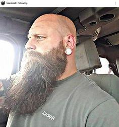 Bärte × Hair Loss Myths Not surprisingly, hair loss my Shaved Head With Beard, Bald With Beard, Bald Men, Beard Love, Shaved Heads, Long Beard Styles, Hair And Beard Styles, Great Beards, Awesome Beards