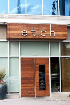 Etch, A Sophisticated Approachable Deb Pacquette Nashville Restaurant via @spinachtiger.
