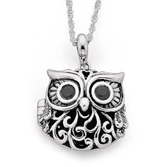 Sterling Silver Owl Locket | Prouds The Jewellers
