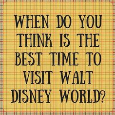 When do you think is the best time to visit Walt Disney World?