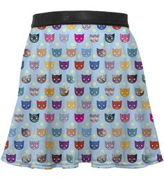 Gugu & Miss Go Rainbow Happy Cat Circle Skirt - Toddler & Girls Cat Presents, Kids Line, Skirts For Kids, Funny Cats, Dress Skirt, Little Girls, Rainbow, Toddler Girls, Clothes