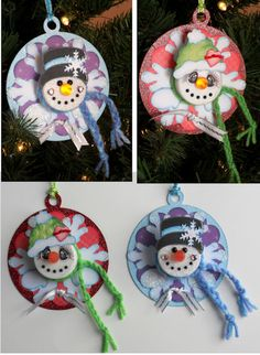 Snowman Tea Lights Ornaments  www.treasureboxdesigns.com
