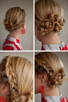 Backwards braided Twist & Pin Chignon #hair
