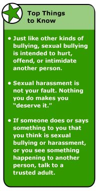 What are Sexual Bullying and Harassment?