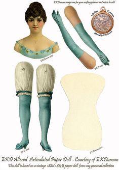 Mini L Victorian Paper Doll gets several new looks by ekduncan, via Flickr