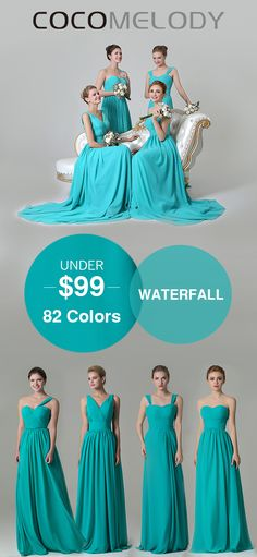 Under $99 , All Sizes And 82 Colors Are Available . #wedding #cocomelody #bridesmaids #customdresses #longdresses #chiffondresses