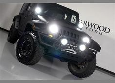 Black Jeep with Kevlar Liner