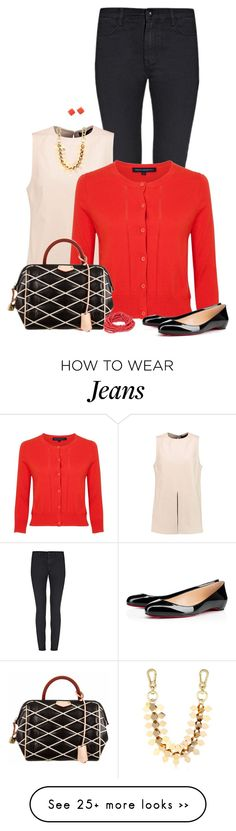 """""""Leather Top"""" by sherry7411 on Polyvore featuring Proenza Schouler, French Connection, Christian Louboutin, Louis Vuitton, BP. and Moxham"""