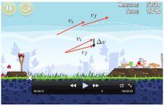 Angry Birds y otros videojuegos similares para enseñar física.