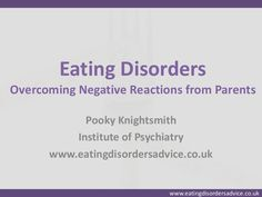 The eating disorder reaction