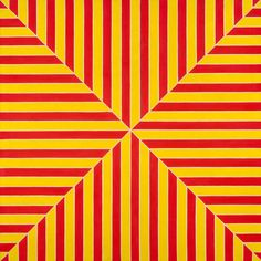 'Marrakech' 1964 Frank Stella. Fluorescent alkyd on canvas: 77 × 77 × 2⅞ in. (195.6 × 195.6 × 7.6 cm). The Metropolitan Museum of Art, New York.