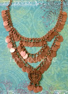 Copper Colored Necklace, matching bra & belt  , $9.99. JC305