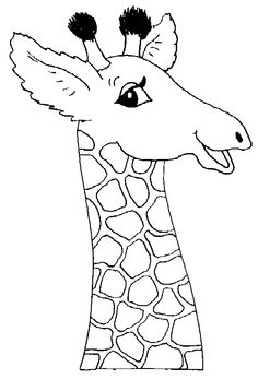 simple giraffe outline  print out and color pictures of a