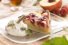 Nektarin- og hindbærtærte med lime