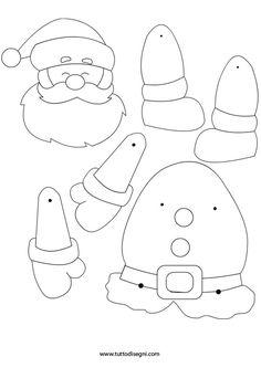 Lavoretto di carta - Babbo Natale - TuttoDisegni.com