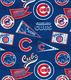 Chicago Cubs Cotton Fabric - Vintage - Fabric - Quilt Fabric - Quilting Prints at JOANN Vintage Theme, Retro Vintage, Vintage Prints, Chicago Cubs Wallpaper, Cubs Cardinals, Chicago Cubs Baseball, Nfl Football, Chicago Bears, Mask For Kids