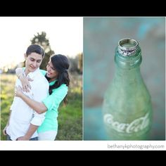 Engagement Photo Bethany K Photography. Mint green and Coke bottles!