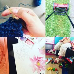 So how was your day?  #picoftheday #photooftheday #knitting #grass #mowing #painting #artist #kids #life #mother #singlemother #happy #thisismylife