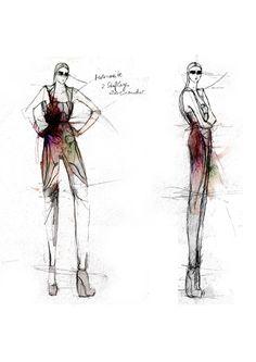 Fashion Sketchbook - fashion design drawings; fashion collection development; fashion portfolio // Maria Piankov