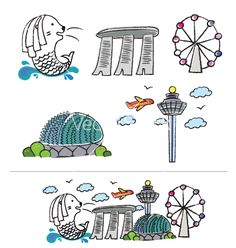 Icons of singapore singapore behance and vector icons for Merlion tattoo images