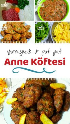 Nefis Anne Köftesi – Nefis Yemek Tarifleri How to make Yummy Mother Meatball Recipe? The narrative description of Nefis Anne Köftesi recipe in the book of people and the photos of the experimenters are here. Beef Recipes For Dinner, Chef Recipes, Lunch Recipes, Asian Recipes, Yummy Recipes, Tasty Meatballs, Wie Macht Man, Turkish Recipes, Recipe For Mom