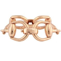 Pre-Owned Gucci 18K Rose Gold Horsebit Bracelet