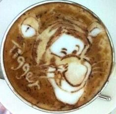 .·:*¨¨*:·.Coffee ♥ Art.·:*¨¨*:·.Tigger latte