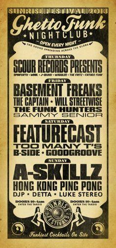 Ghetto Funk Nightclub at Sunrise Festival 2013    www.facebook.com/sunrisefesti